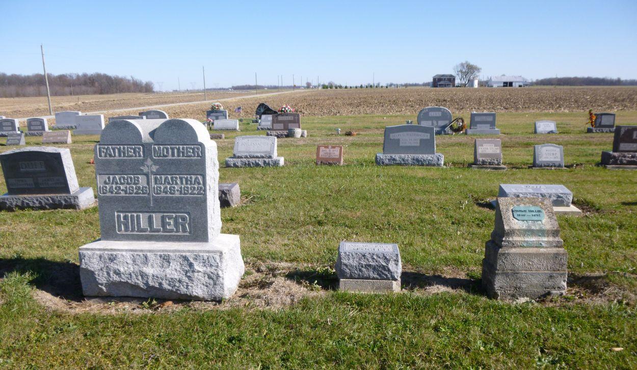 Ohio mercer county rockford - George Hiller Buried Near Hiller Relatives Kessler Cemetery Mercer County Ohio