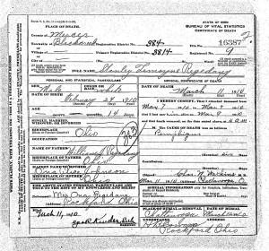 Stanley Regedanz Death Certificate