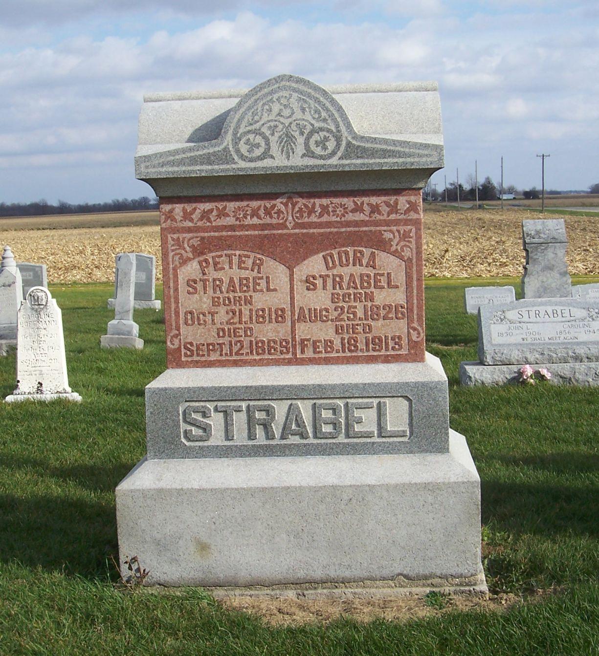 Ohio mercer county rockford - Peter Dora Strabel Zion Lutheran Cemetery Mercer County Ohio 2011