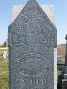 John H & Elizabeth (Feldman) Trisel, East Bethel Cemetery. (2016 photo by Karen)