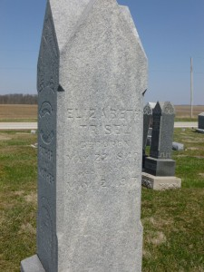 Elizabeth (Feldman) Bahn Trisel, East Bethel Cemetery. (2016 photo by Karen)