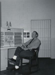 Herb Miller at Lima State Hospital, 1968.