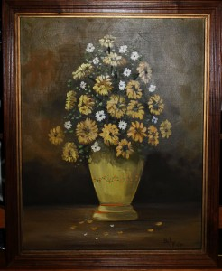 Billy Milligan painting, 1980. (2016 photo by Karen)