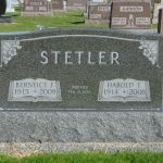 Harold & Berneice (Becher) Stetler, Riverside Cemetery, Rockford, Dublin Twp, Ohio. (2016 photo by Karen)