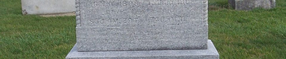 Georg & Katharina Berron, Zion Lutheran Cemetery, Chattanooga, Mercer County, Ohio. (2011 photo by Karen)