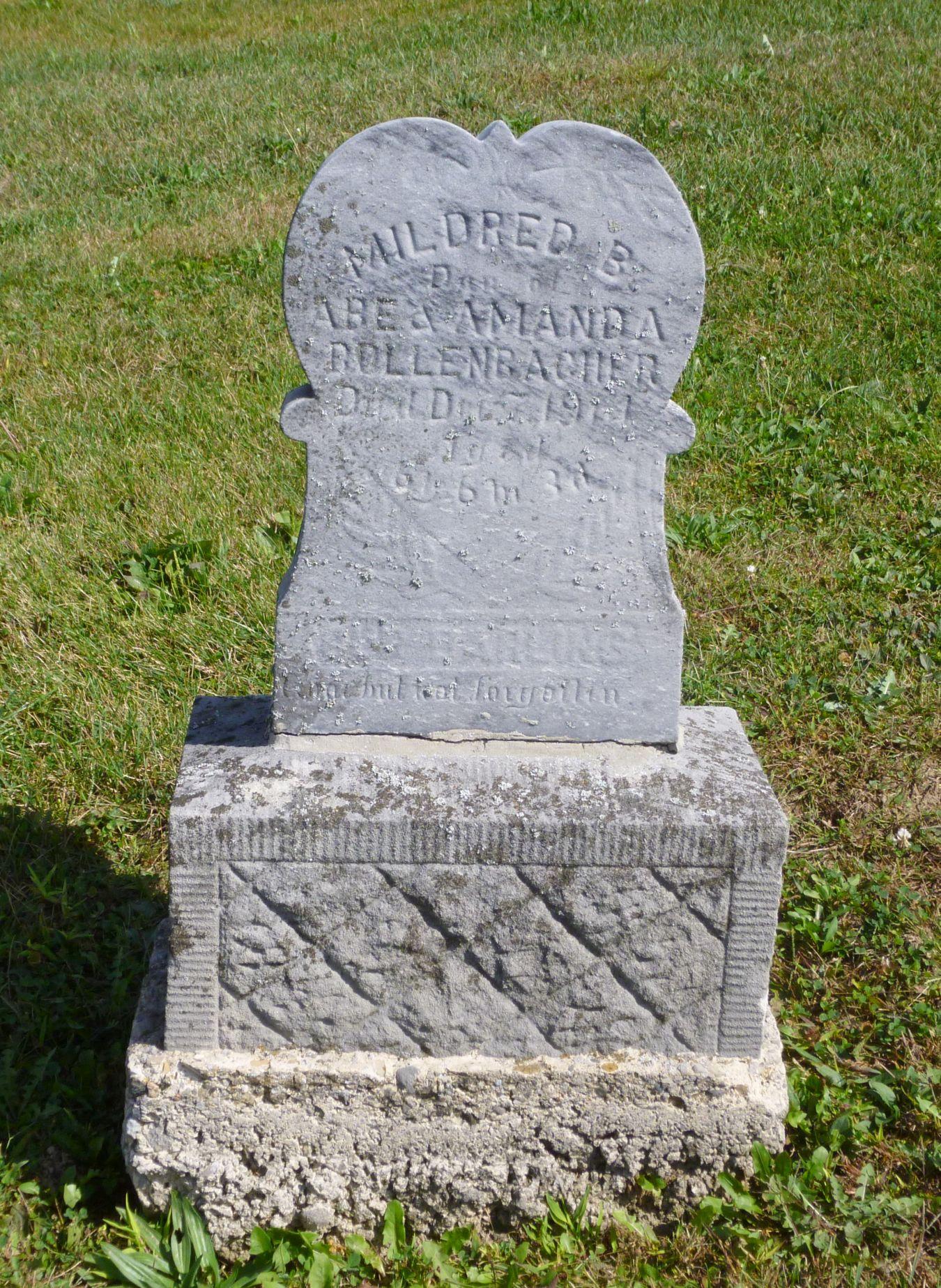 Ohio mercer county rockford - Mildred B Bollenbacher Kessler Cemetery Mercer County Ohio 2017 Photo By Karen