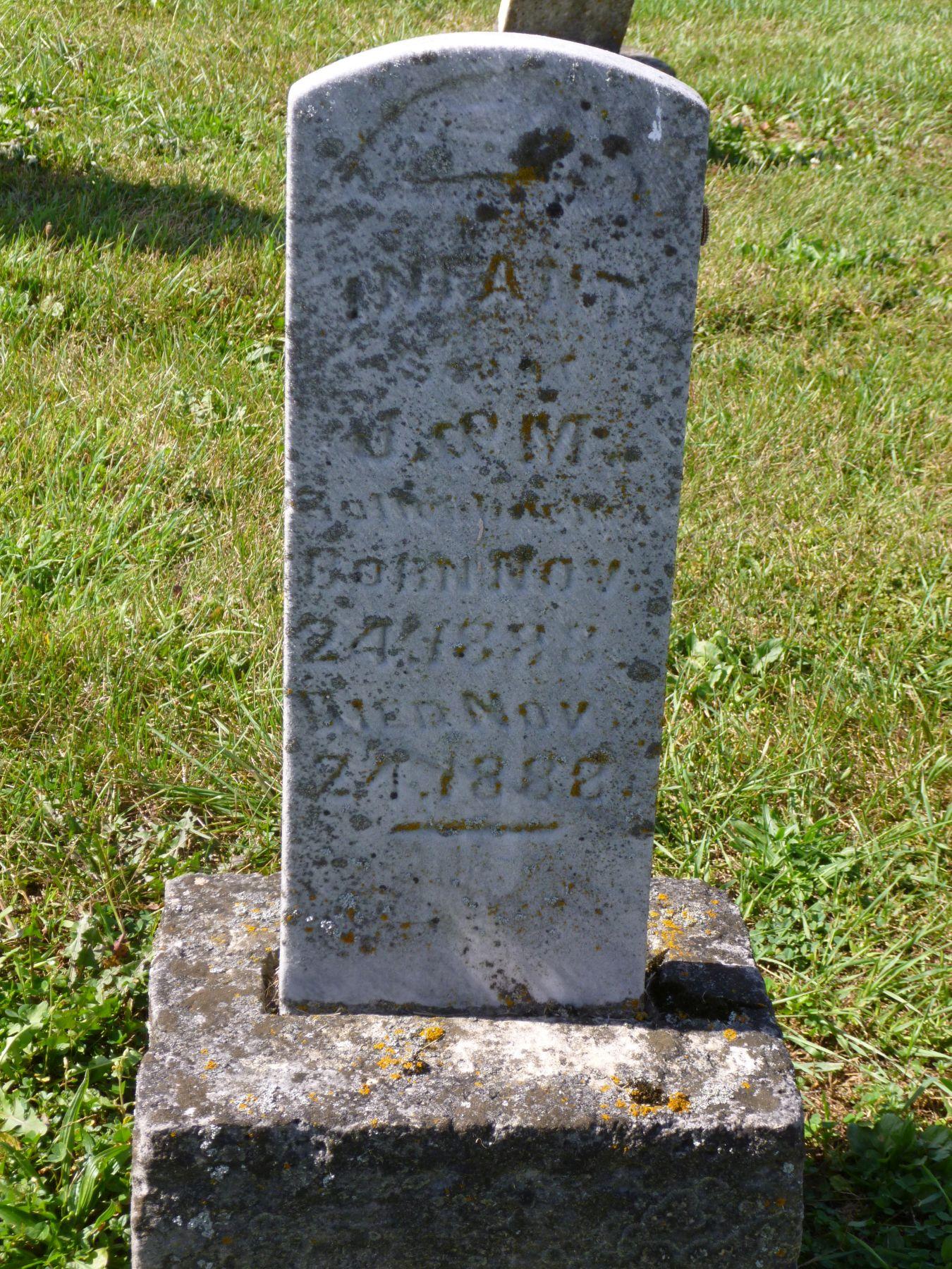 Ohio mercer county rockford - Infant Son Of J M Bollenbacher Kessler Cemetery Mercer County Ohio 2017 Photo By Karen