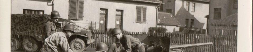57 mm anti-tank gun, 84th Division, 333rd, labeled Holland.