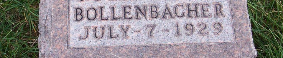 Roger Wayne Bollenbacher, Zion Lutheran Cemetery, Mercer County, Ohio. (2011 photo by Karen)