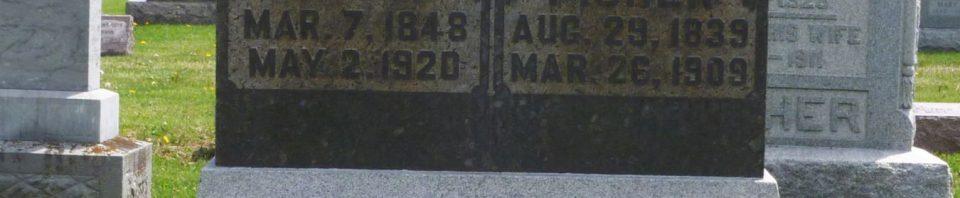 Christian & Mary Ann (Bollenbacher) Fisher, Kessler/Liberty Cemetery, Mercer County, Ohio. (2018 photo by Karen)