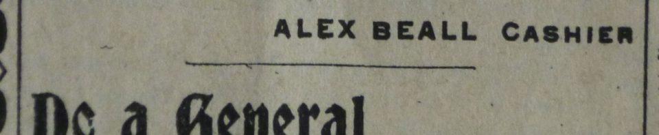 Willshire Bank, 1904