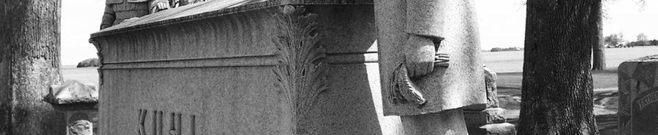 Kuhl monument, Woodlawn Cemetery, Ohio City, Ohio. (2004 photo by Karen)